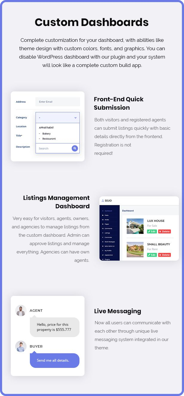 Selio - Real Estate WordPress Theme - 1